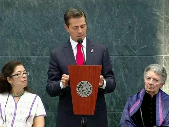 El presidente Peña Nieto destacó que su gobierno será respetuoso de las decisiones que le correspondan a la próxima administración – Foto: Twitter @PresidenciaMX