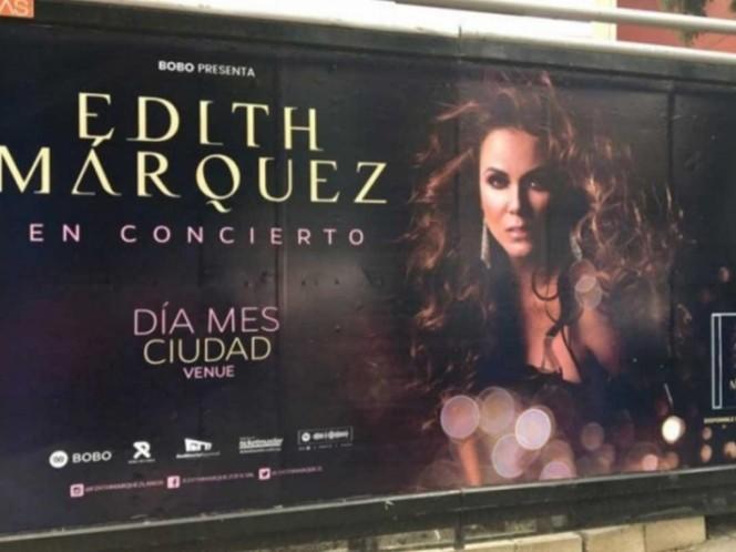 Edith Márquez toma con humor error en su publicidad de concierto