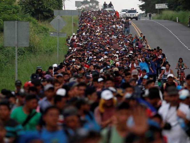 Llega Caravana Migrante a la Magdalena Mixhuca