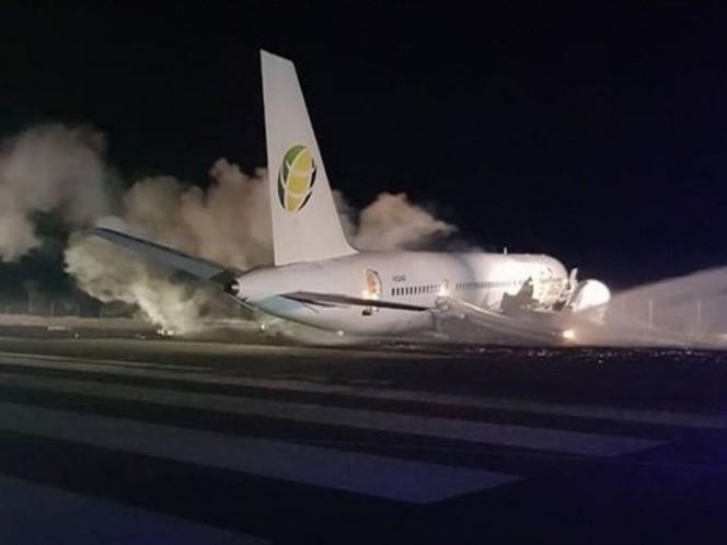 Aterrizaje forzoso en aeropuerto de Guyana deja seis heridos