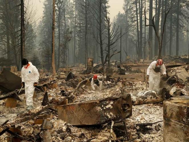 La difícil tarea de recuperar cuerpos — Incendios en California