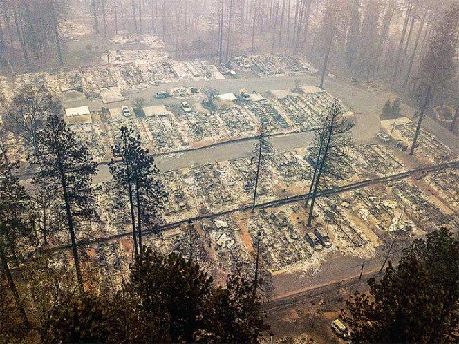 Incendios en California dejan más de 60 muertos y cientos de desaparecidos