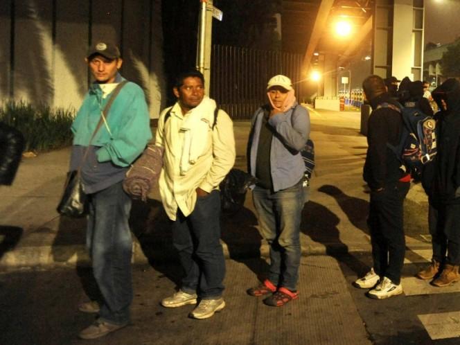 Amanece en Querétaro la Caravana Migrante
