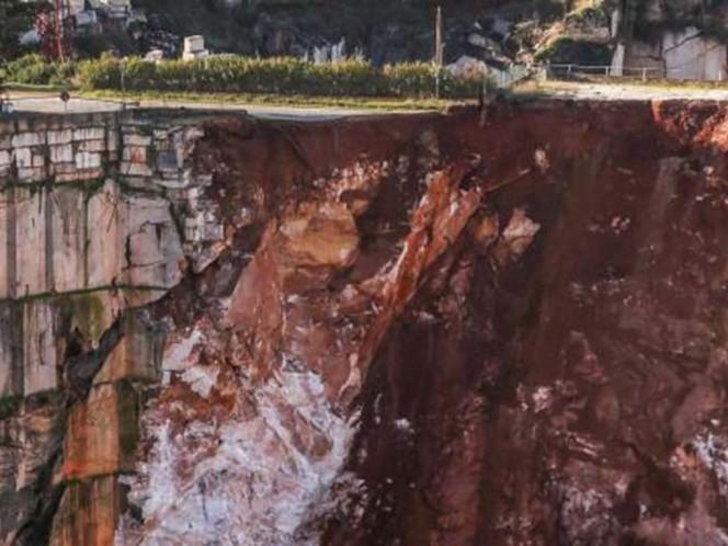 Mueren al menos dos personas tras hundirse una carretera en Portugal