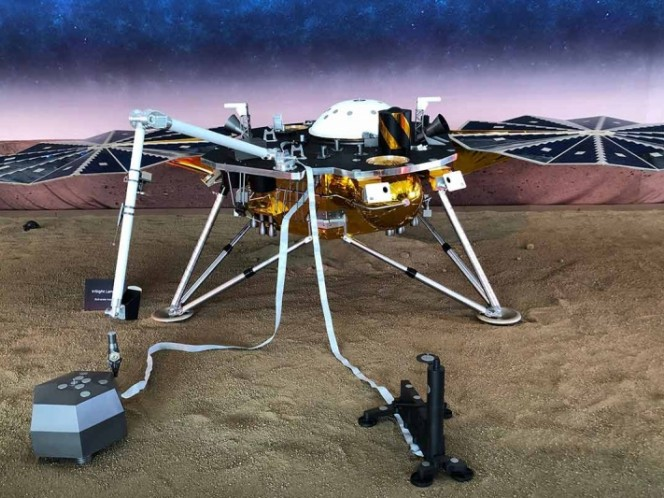 The landing of the InSight probe on Mars is still here