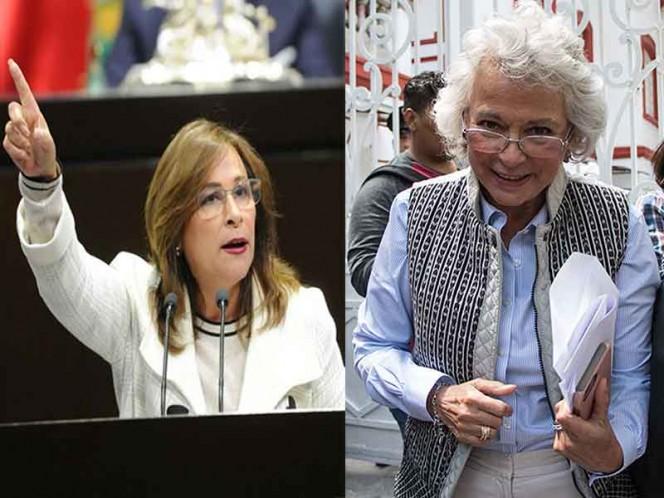 Piden Olga Sánchez y Rocío Nahle licencia al Senado