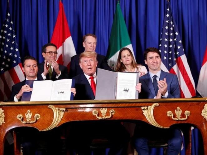 Peña Nieto firma T-MEC; se abre una 'nueva etapa' con EU y Canadá, afirma