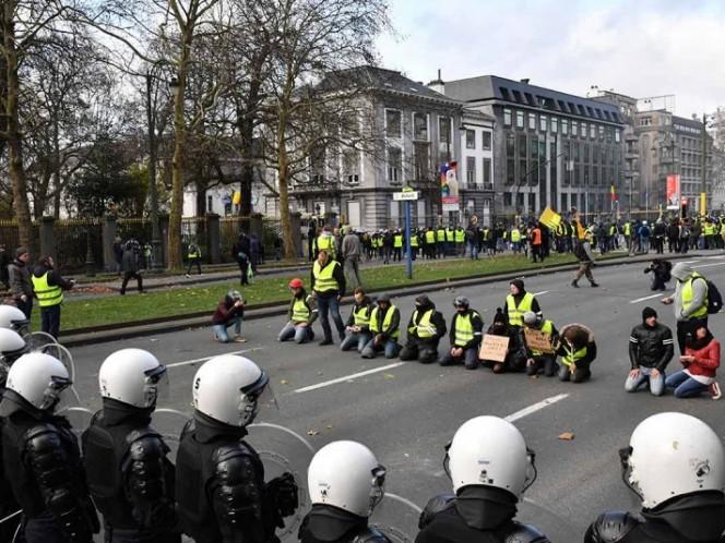 Diez detenidos en una manifestación de los 'chalecos amarillos' en Bruselas