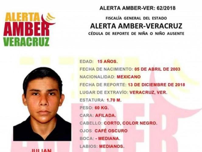 Alerta Amber: ayuda a Julián de 11 años a volver a casa
