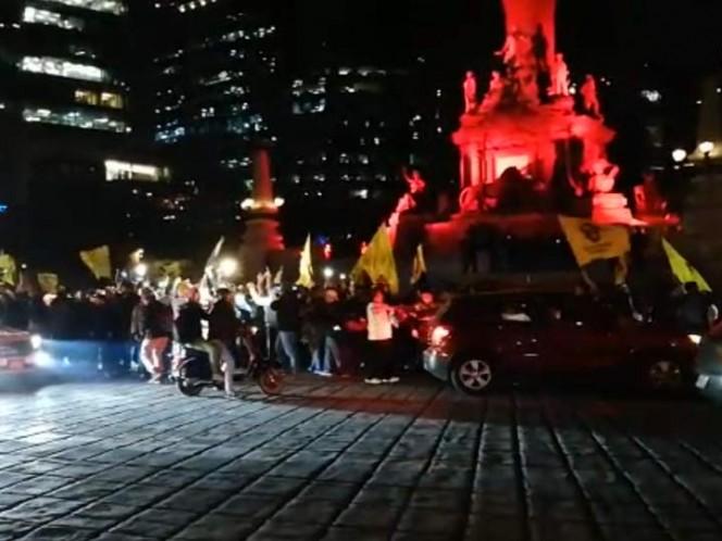 Policías resguardan Ángel de la Independencia; aquí alternativas viales