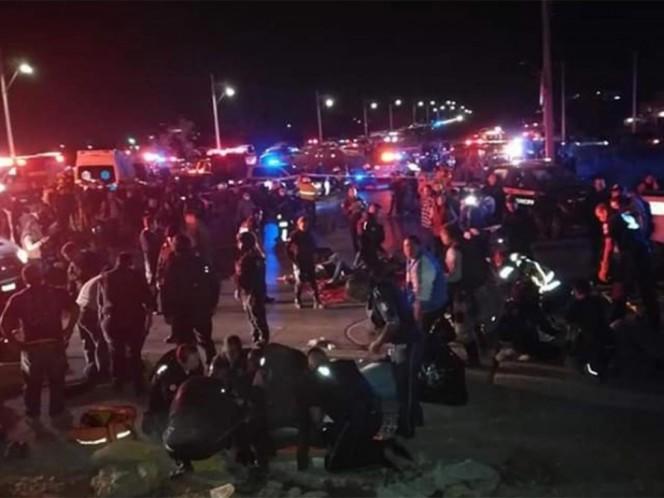 Suman nueve muertos tras accidente de autobús en León