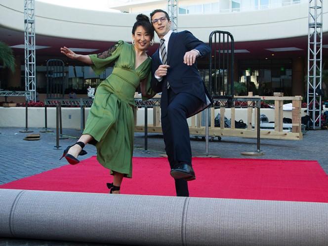 Jim Carrey y Ginger Gonzaga debutaron como pareja en los Golden Globes