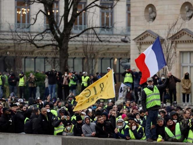 Incidentes en la novena protesta de los chalecos amarillos en Francia
