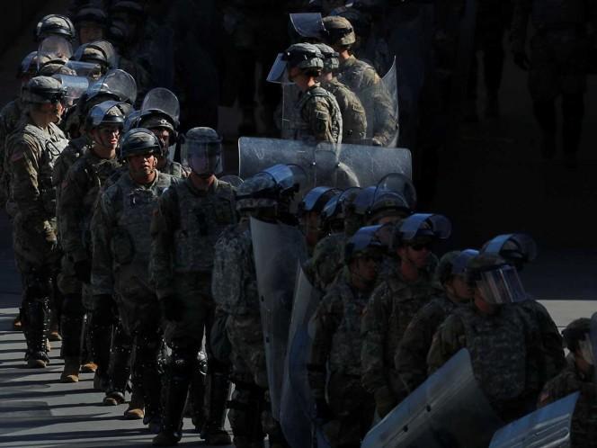 Aumenta EU seis veces presencia militar en frontera con México