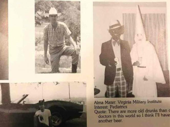 Piden la renuncia de gobernador de Virginia por foto 'racista'
