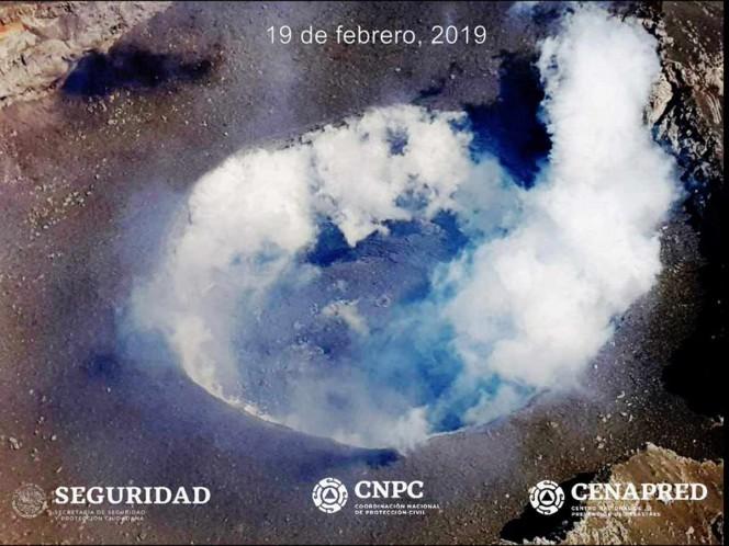 Se forma domo 82 en el Popocatépetl y así se ve