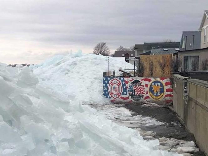 Alerta en EU por tsunamis de hielo y fuertes vientos