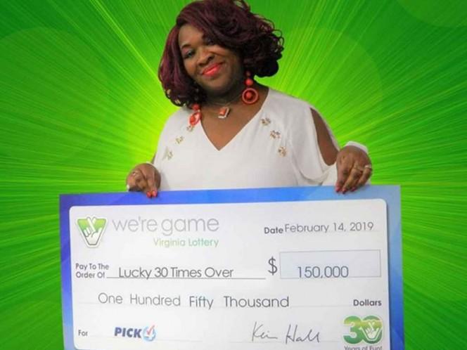 Mujer gana la lotería 30 veces en un mismo día