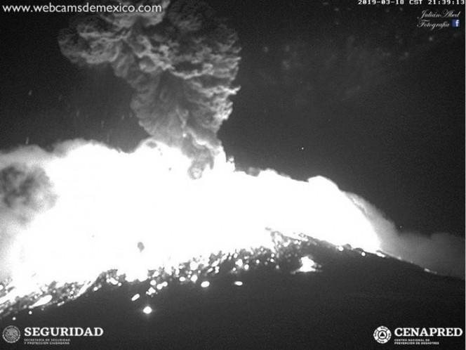 México: la impactante explosión del volcán Popocatépetl