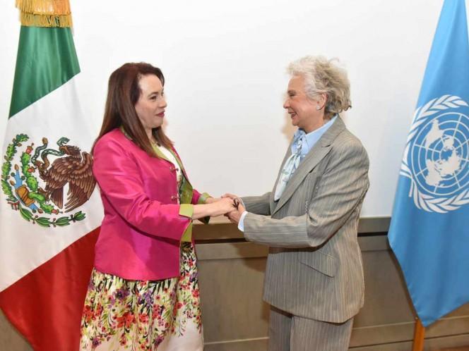 AMLO se reúne con presidenta de la Asamblea General de la ONU