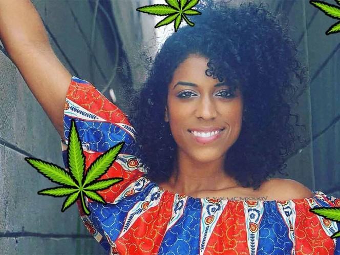 Ella es Gerber, gana $18,750 al mes por ¡fumar mariguana!