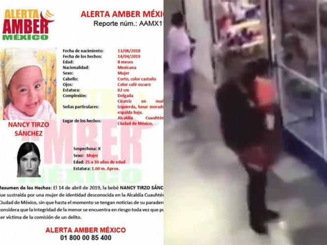 Encuentran a la bebé Nancy Tirzo, había sido robada en CDMX
