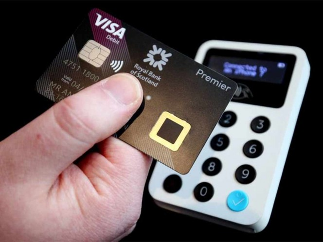 The first debit card that requires a fingerprint instead of a needle