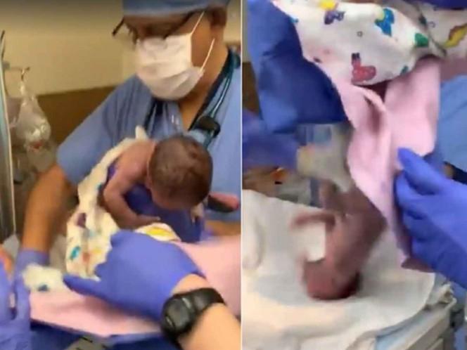Recién nacida recibe golpe en la cabeza por error médico #VIDEO