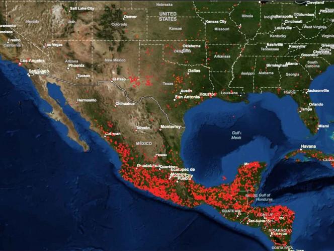 Así se ve la contaminación de México desde el espacio