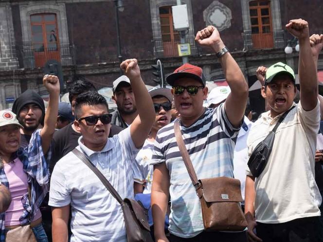 manifestación, protesta, reforma educativa, Congreso