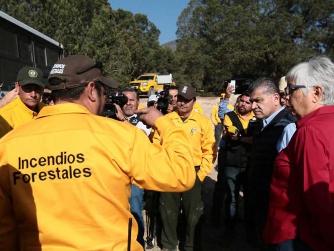 Afecta incendio forestal en Saltillo 350 hectáreas
