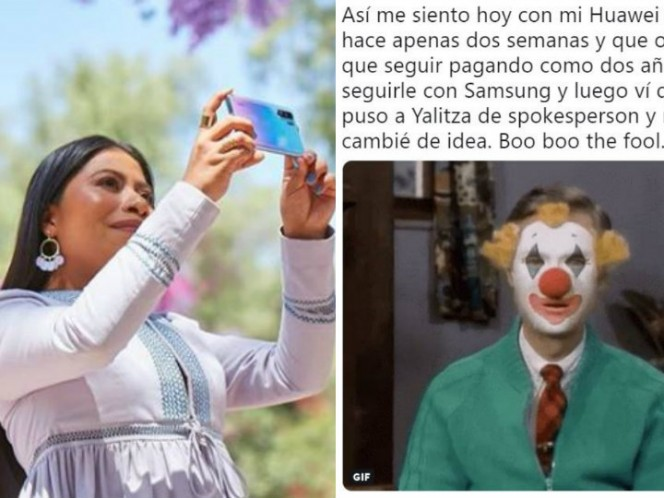 Critican a Yalitza Aparicio por 'vender' teléfonos Huawei