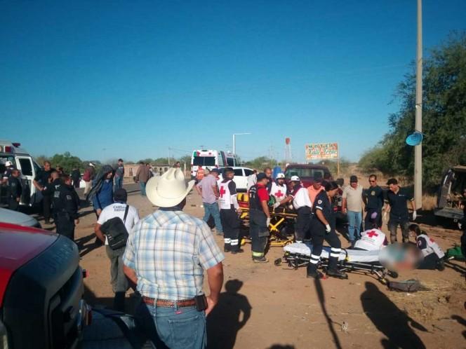 Mueren 5 personas en accidente en Hermosillo