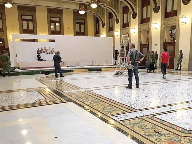 Protegen el piso del Salón Tesorería