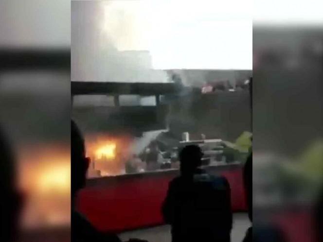 Se incendia local de comida dentro del Auditorio Nacional