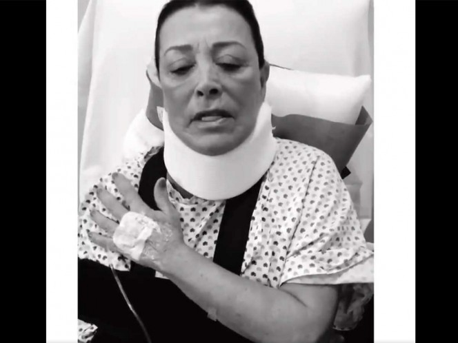 Sylvia Pasquel se disloca el hombro y así concluye función