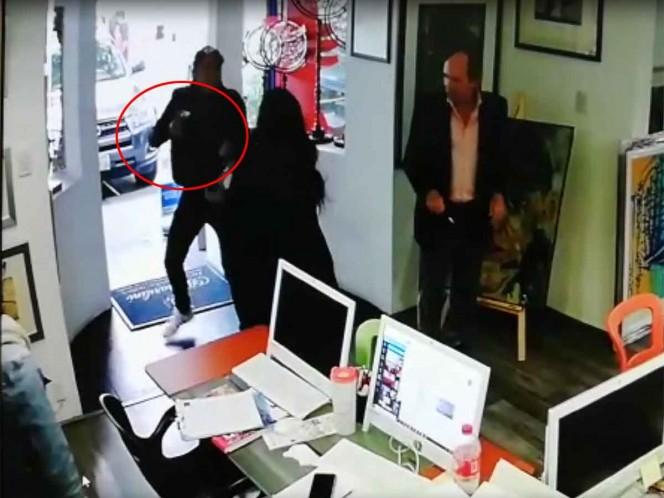 Captan asalto en galería de arte en Polanco