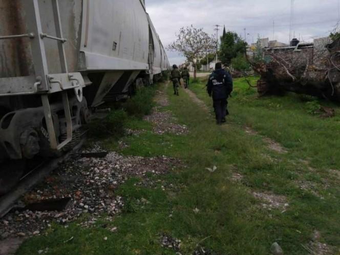 Guardia Nacional impide robo a tren con cemento en Puebla