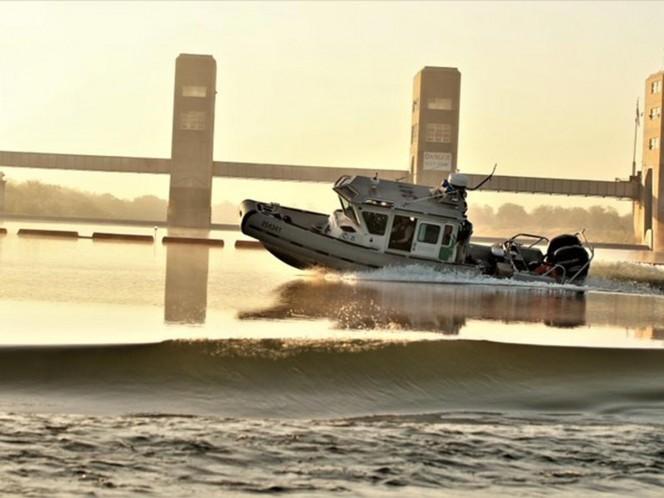 Balean, desde México, unidad de la Patrulla Fronteriza en Rio Grande