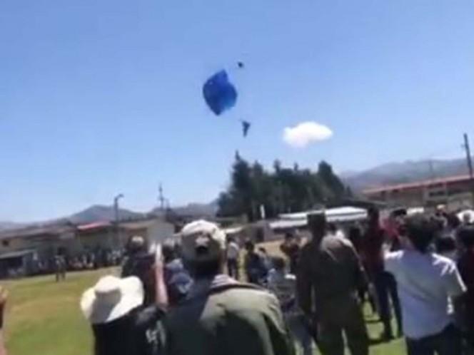 Cajamarca: paracaidista de la FAP muere tras caer durante ensayos