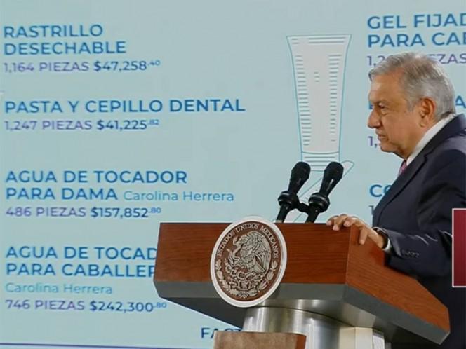 Ventanean gastos pasados de $205 mil en papel higiénico, rastrillos $47 mil