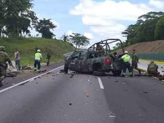 Reportan seis militares heridos tras volcadura en Veracruz