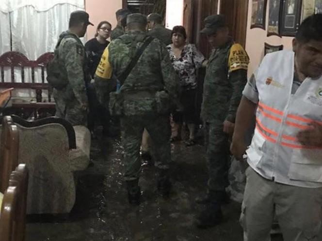 Dañanadas, 100 viviendas en Chiapas por lluvias