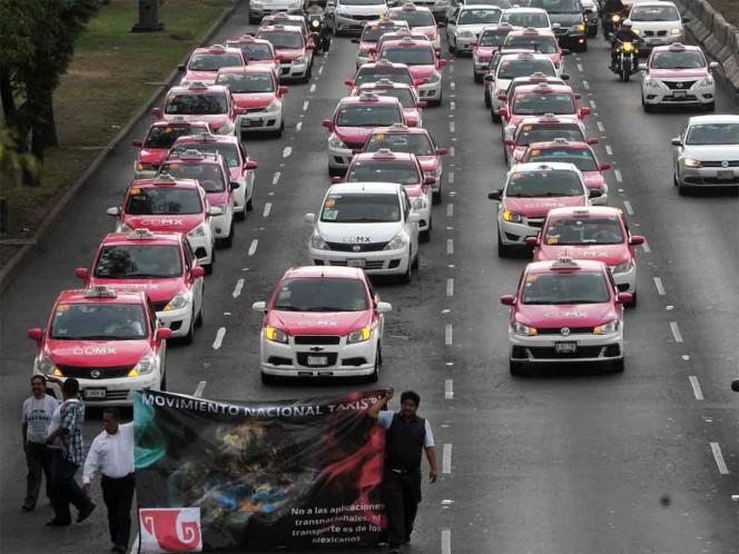 Termina bloqueo de taxistas, se disculpan y prometen mejorar servicio