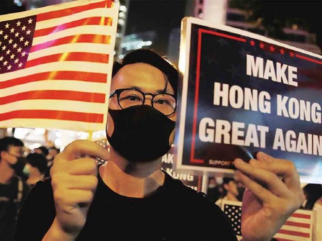 Eslogan de Trump, en Hong Kong