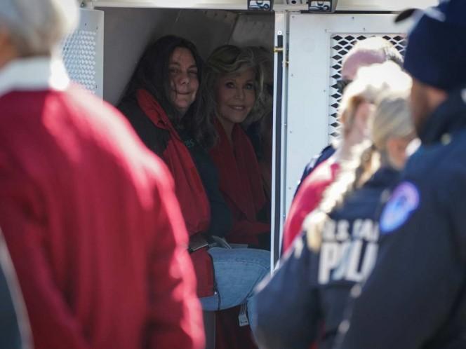 Van dos y aún faltan; arrestan otra vez a Jane Fonda en el Capitolio