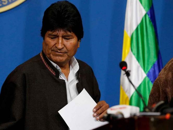 Renuncia Evo Morales; una auditoría de la OEA detectó irregularidades en su reelección