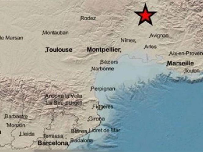 Temblor de magnitud 5.4 remece el sur de Francia