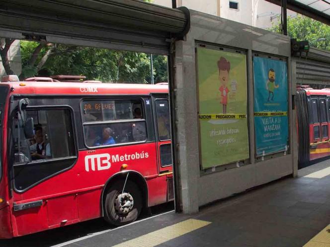 Por carrera, interrupciones en servicio de L1 del Metrobús el domingo