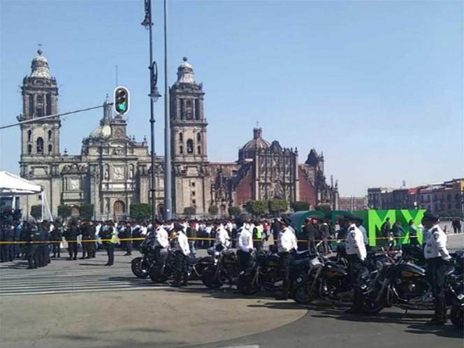 Inauguran en el Zócalo los Juegos de Policías y Bomberos